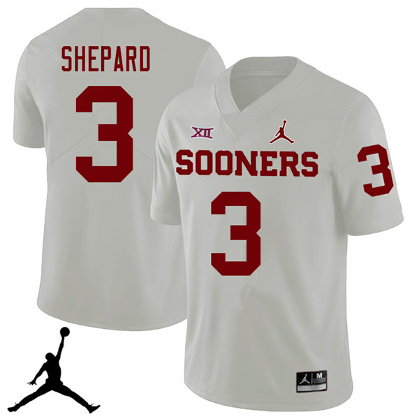 Jordan Brand Men #3 Sterling Shepard Oklahoma Sooners 2018 College Football Jerseys Sale-White