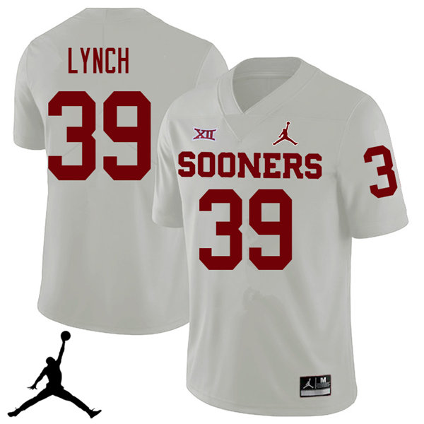 Jordan Brand Men #39 Tylon Lynch Oklahoma Sooners 2018 College Football Jerseys Sale-White