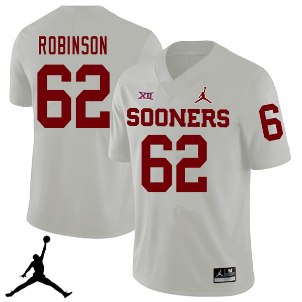 Jordan Brand Men #62 Tyrese Robinson Oklahoma Sooners 2018 College Football Jerseys Sale-White