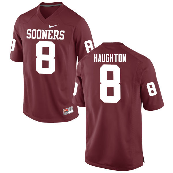 Men Oklahoma Sooners #8 Kahlil Haughton College Football Jerseys Game-Crimson