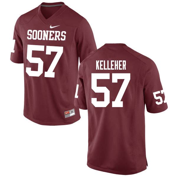 Men #51 Kasey Kelleher Oklahoma Sooners College Football Jerseys Sale-Crimson