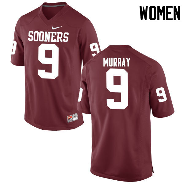 Women Oklahoma Sooners #9 Kenneth Murray College Football Jerseys Game-Crimson