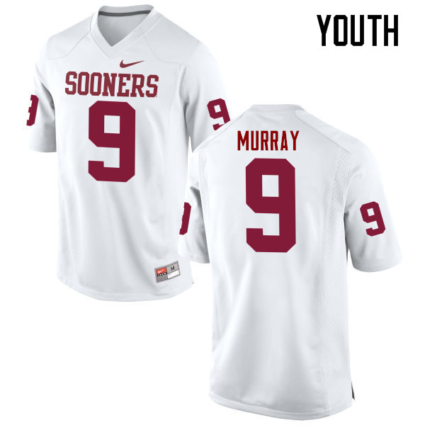 Youth Oklahoma Sooners #9 Kenneth Murray College Football Jerseys Game-White