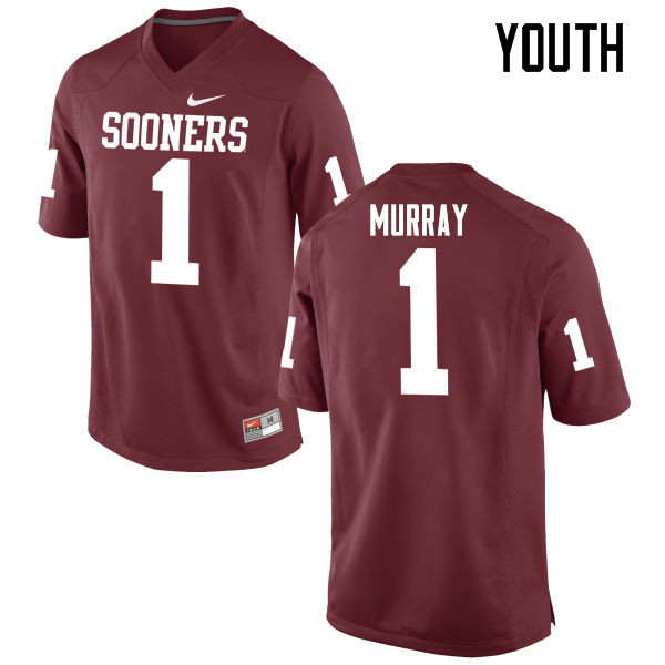 Youth Oklahoma Sooners #1 Kyler Murray College Football Jerseys Game-Crimson