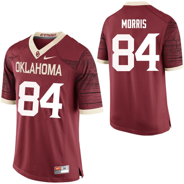 Men Oklahoma Sooners #84 Lee Morris College Football Jerseys Limited-Crimson
