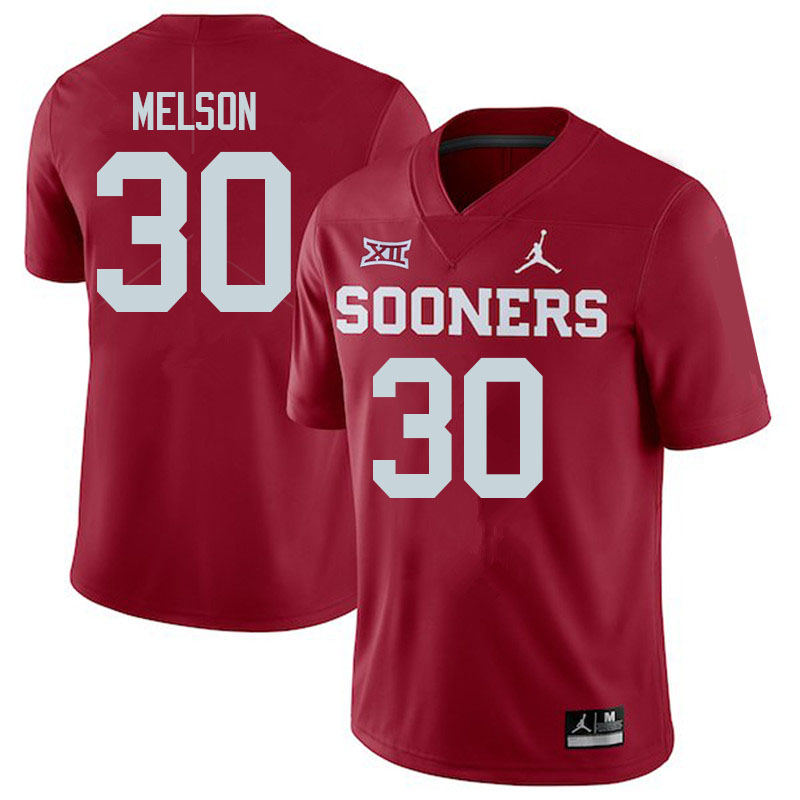Men #30 Major Melson Oklahoma Sooners College Football Jerseys Sale-Crimson
