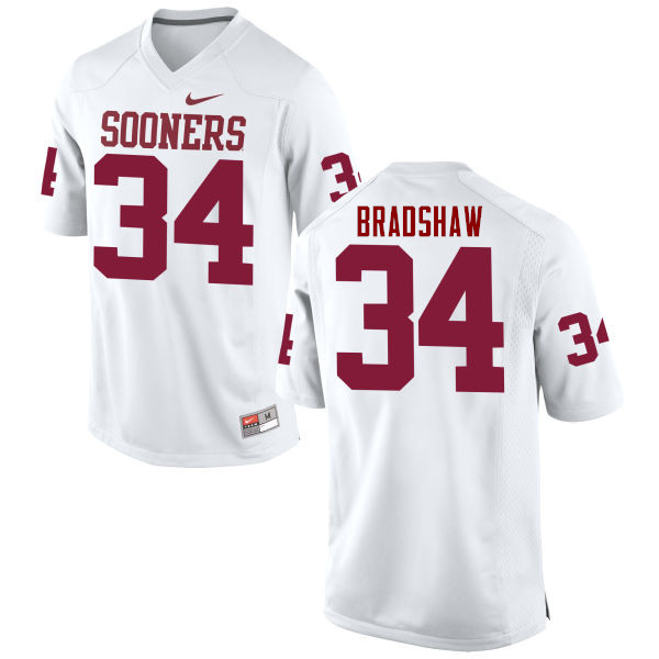 Men Oklahoma Sooners #34 Malik Bradshaw College Football Jerseys Game-White