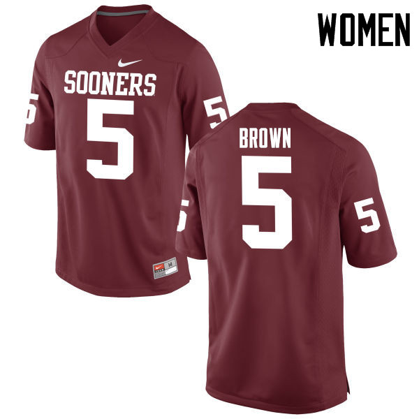 Women Oklahoma Sooners #5 Marquise Brown College Football Jerseys Game-Crimson