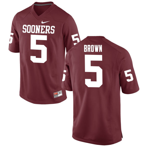 Men Oklahoma Sooners #5 Marquise Brown College Football Jerseys Game-Crimson