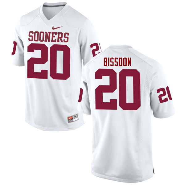 Men Oklahoma Sooners #20 Najee Bissoon College Football Jerseys Game-White