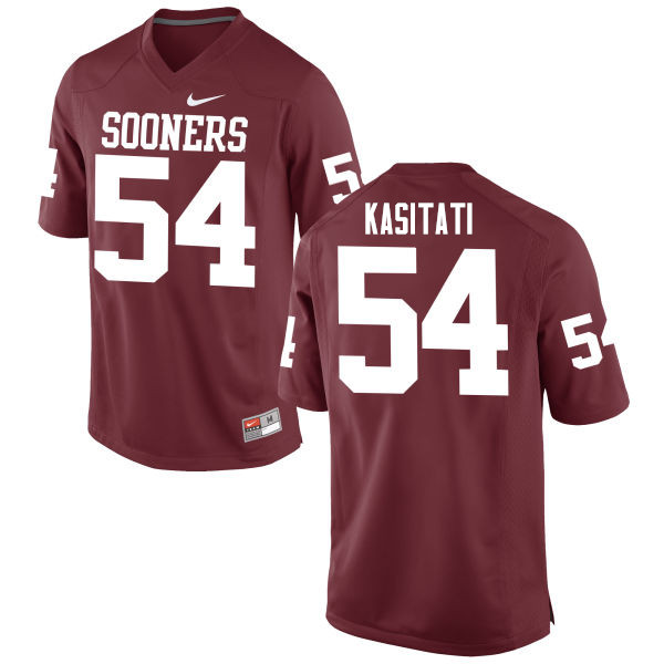 Men Oklahoma Sooners #54 Nila Kasitati College Football Jerseys Game-Crimson