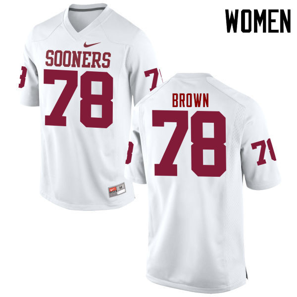 Women Oklahoma Sooners #78 Orlando Brown College Football Jerseys Game-White