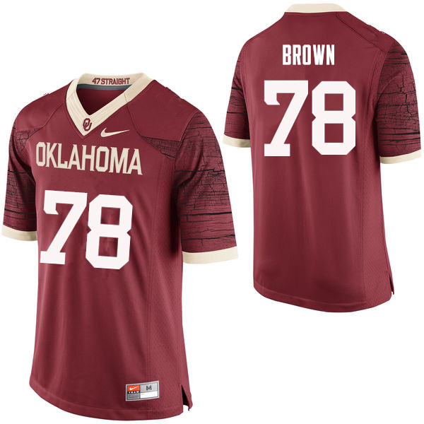 Men Oklahoma Sooners #78 Orlando Brown College Football Jerseys Limited-Crimson