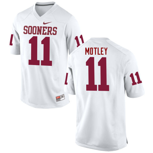 Men Oklahoma Sooners #11 Parnell Motley College Football Jerseys Game-White