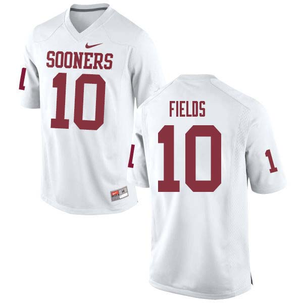 Men #10 Patrick Fields Oklahoma Sooners College Football Jerseys Sale-White
