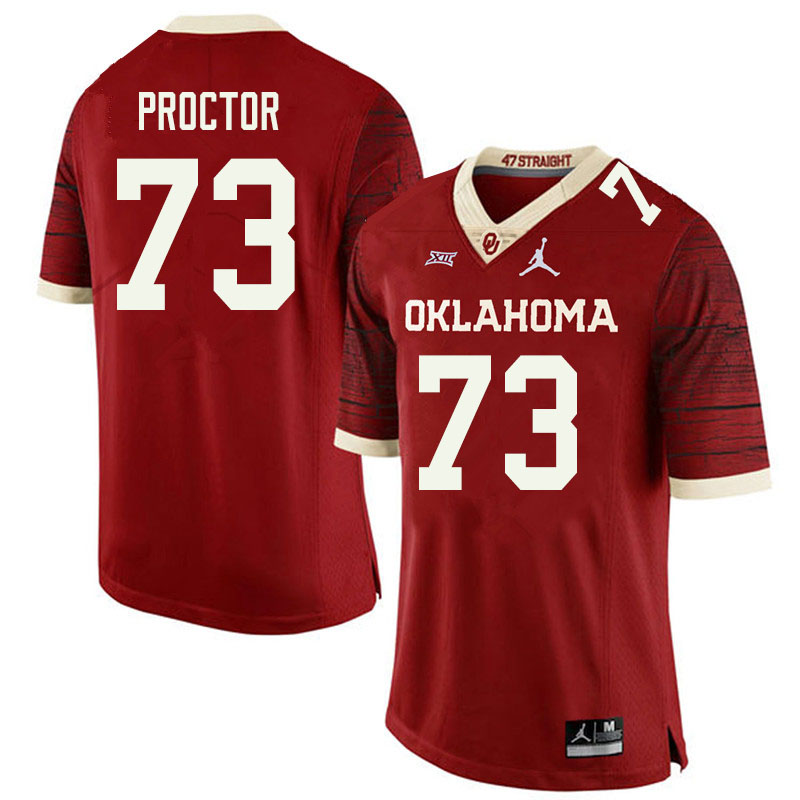 Jordan Brand Men #73 R.J. Proctor Oklahoma Sooners College Football Jerseys Sale-Retro