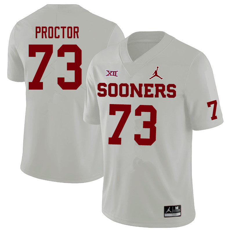 Jordan Brand Men #73 R.J. Proctor Oklahoma Sooners College Football Jerseys Sale-White