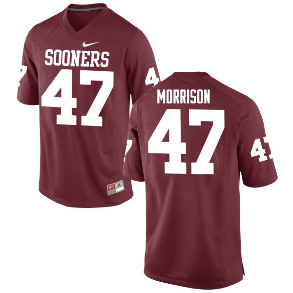 Men Oklahoma Sooners #47 Reece Morrison College Football Jerseys Game-Crimson