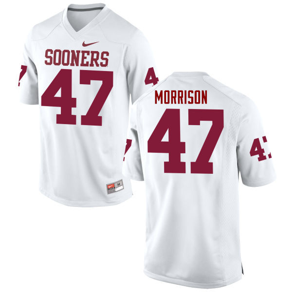 Men Oklahoma Sooners #47 Reece Morrison College Football Jerseys Game-White