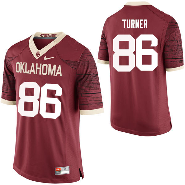 Men Oklahoma Sooners #86 Reggie Turner College Football Jerseys Limited-Crimson