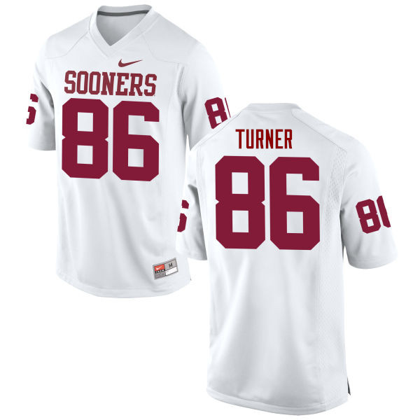 Men Oklahoma Sooners #86 Reggie Turner College Football Jerseys Game-White