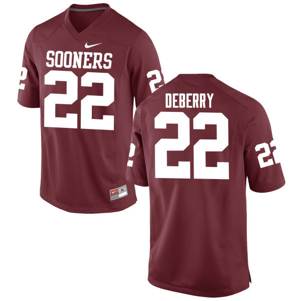 Men Oklahoma Sooners #22 Ricky DeBerry College Football Jerseys Game-Crimson