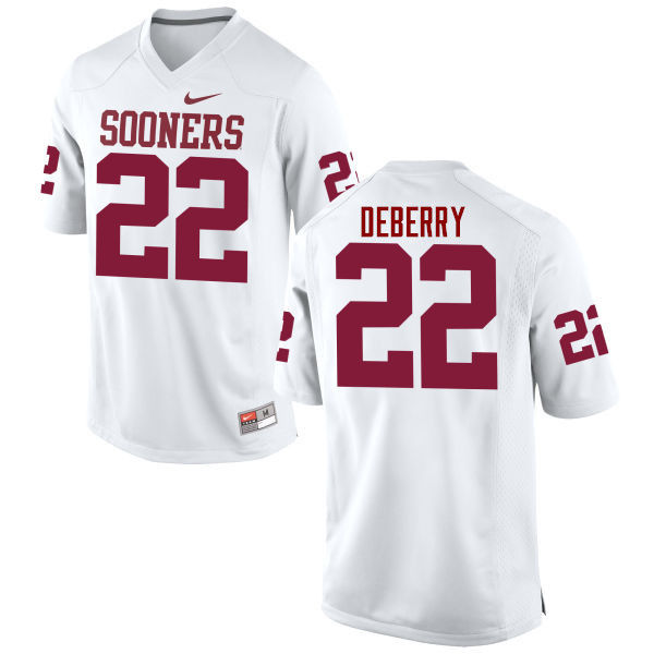 Men Oklahoma Sooners #22 Ricky DeBerry College Football Jerseys Game-White