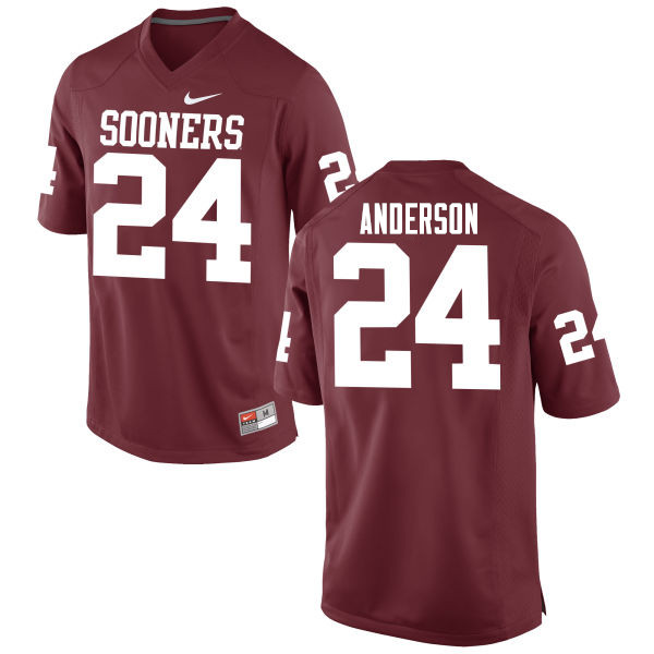 Men Oklahoma Sooners #24 Rodney Anderson College Football Jerseys Game-Crimson