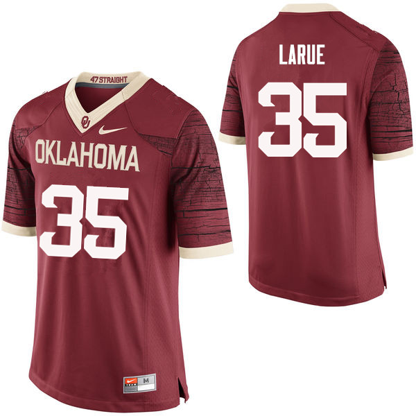 Men Oklahoma Sooners #35 Ronnie LaRue College Football Jerseys Limited-Crimson