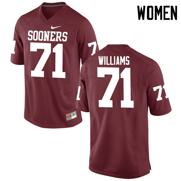 Women Oklahoma Sooners #71 Trent Williams College Football Jerseys Game-Crimson