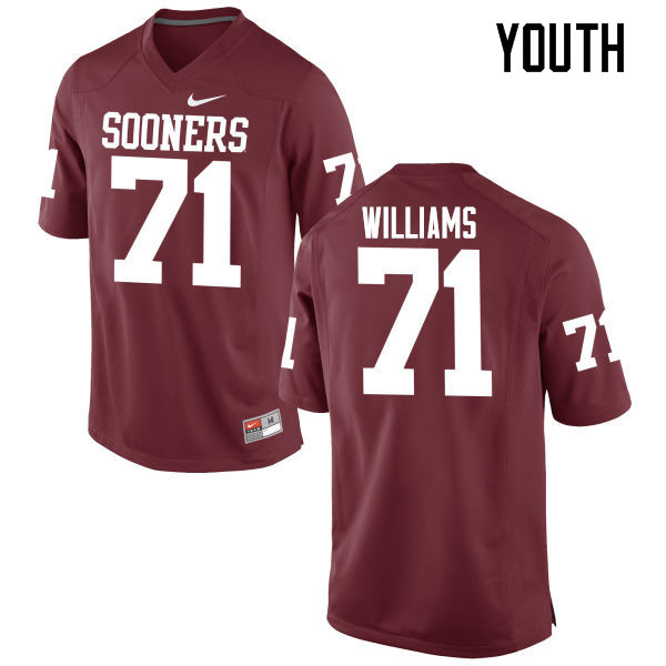 Youth Oklahoma Sooners #71 Trent Williams College Football Jerseys Game-Crimson