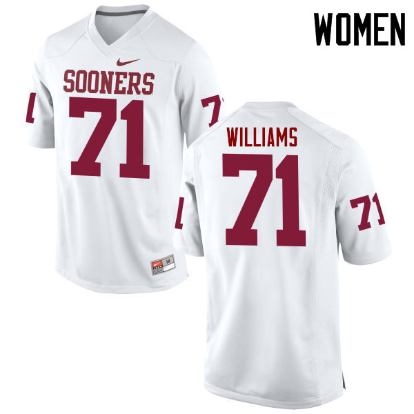 Women Oklahoma Sooners #71 Trent Williams College Football Jerseys Game-White