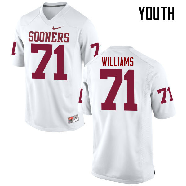 Youth Oklahoma Sooners #71 Trent Williams College Football Jerseys Game-White