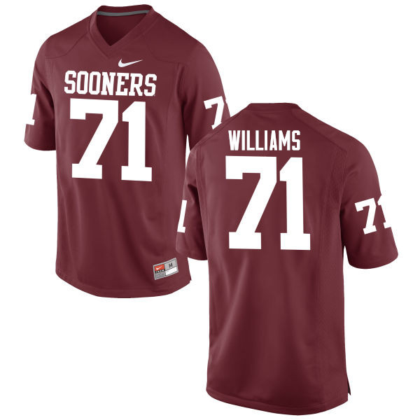 Men Oklahoma Sooners #71 Trent Williams College Football Jerseys Game-Crimson