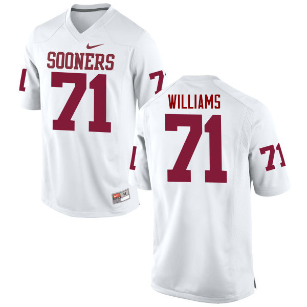 Men Oklahoma Sooners #71 Trent Williams College Football Jerseys Game-White