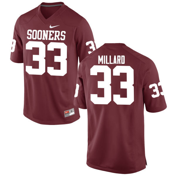 Men Oklahoma Sooners #33 Trey Millard College Football Jerseys Game-Crimson