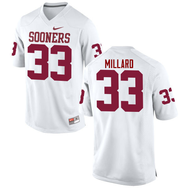 Men Oklahoma Sooners #33 Trey Millard College Football Jerseys Game-White