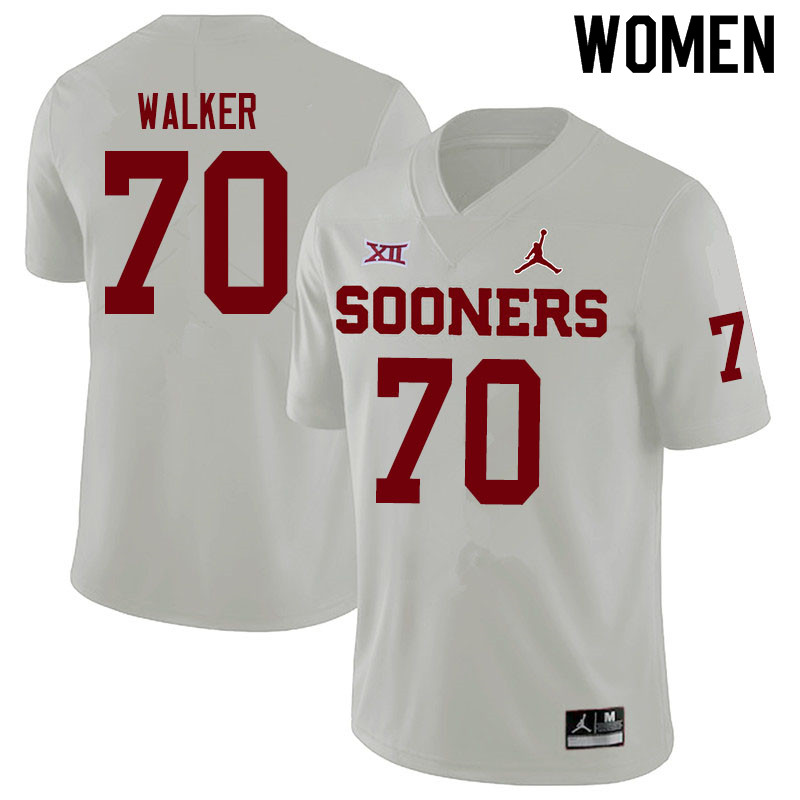 Women #70 Brey Walker Oklahoma Sooners Jordan Brand College Football Jerseys Sale-White