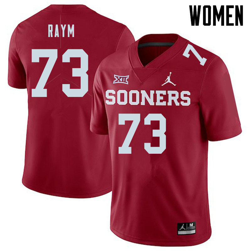Jordan Brand Women #73 Andrew Raym Oklahoma Sooners College Football Jerseys Sale-Crimson