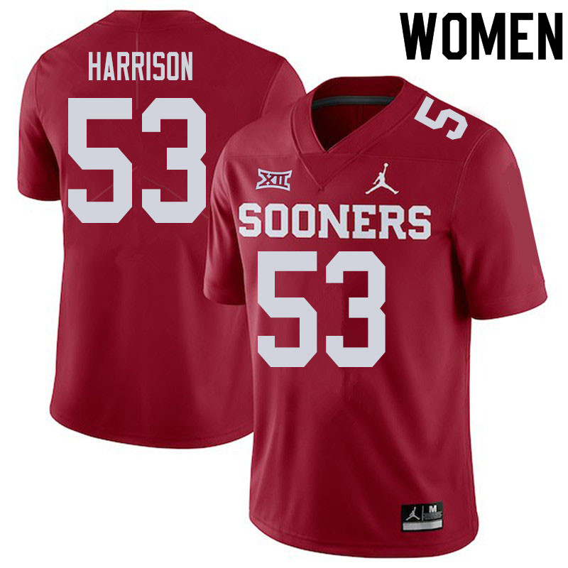 Women #53 Anton Harrison Oklahoma Sooners College Football Jerseys Sale-Crimson