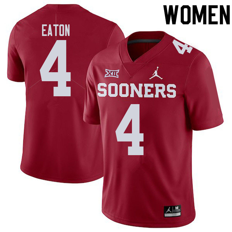Women #4 Chandler Morris Oklahoma Sooners College Football Jerseys Sale-Crimson