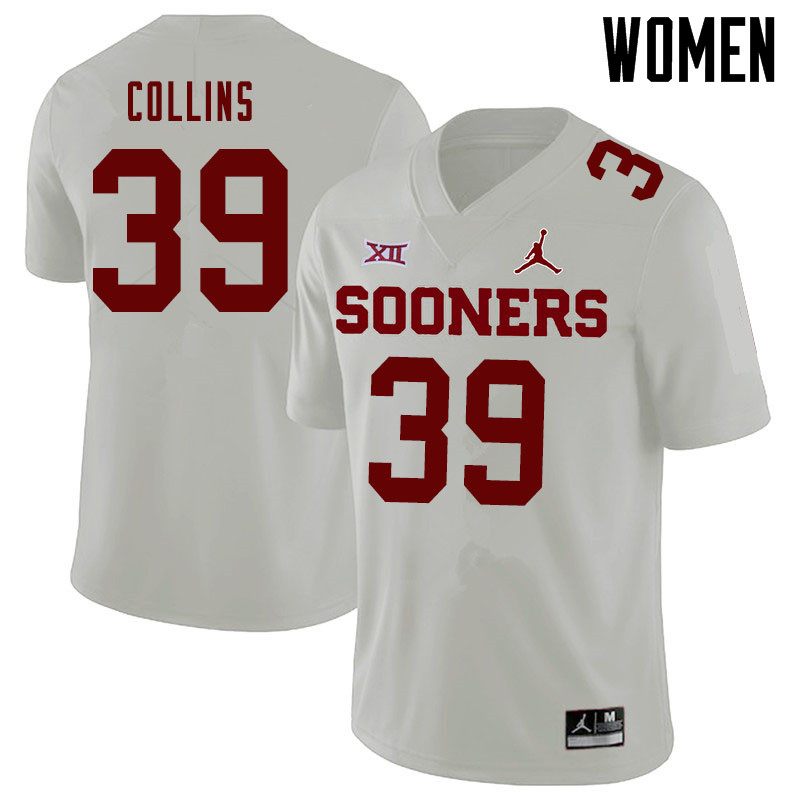 Jordan Brand Women #39 Doug Collins Oklahoma Sooners College Football Jerseys Sale-White