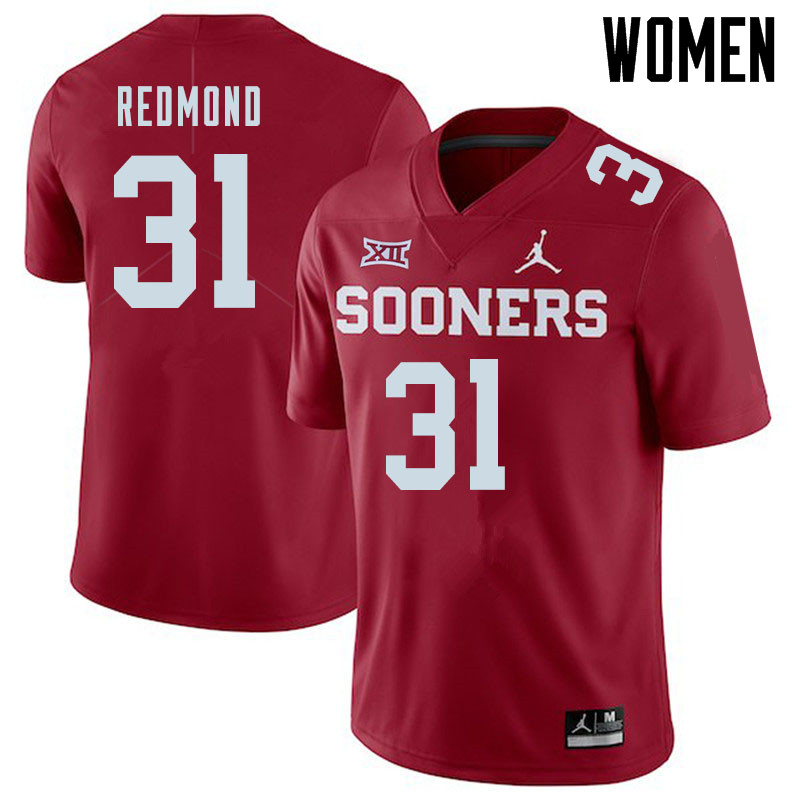 Jordan Brand Women #31 Jalen Redmond Oklahoma Sooners College Football Jerseys Sale-Crimson
