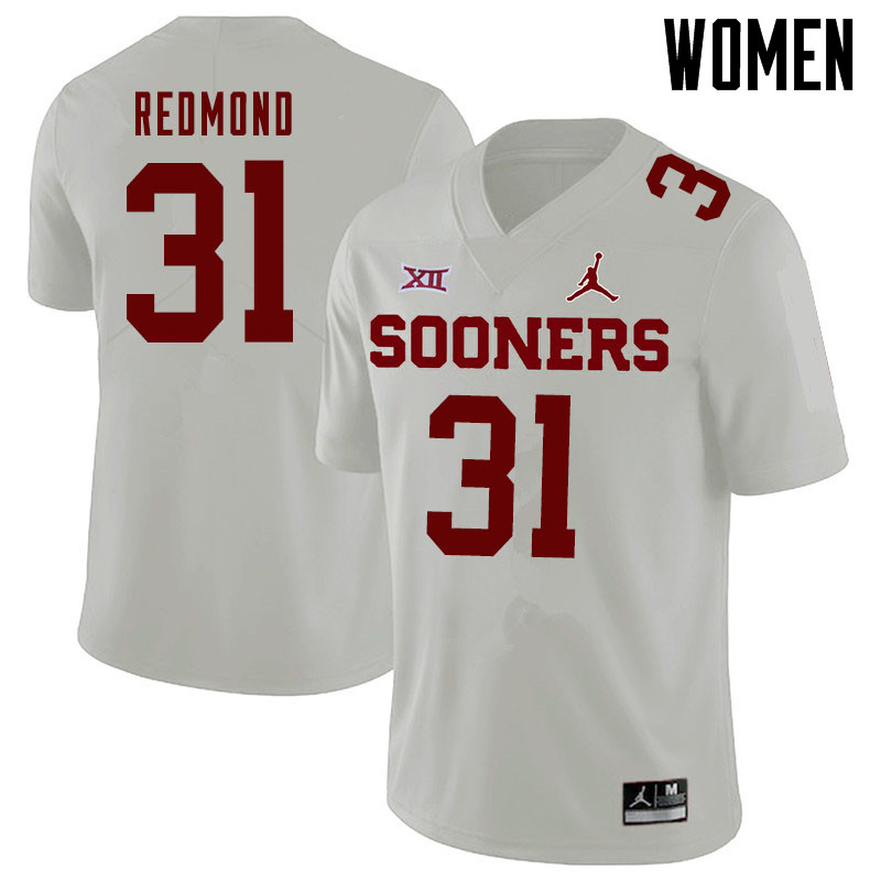 Jordan Brand Women #31 Jalen Redmond Oklahoma Sooners College Football Jerseys Sale-White