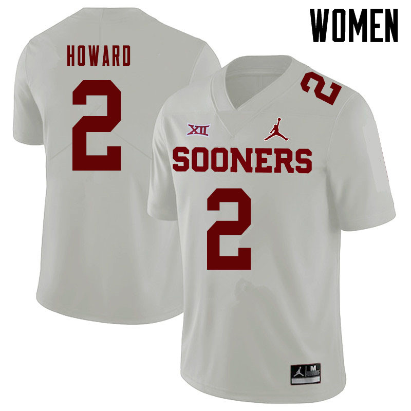 Jordan Brand Women #2 Theo Howard Oklahoma Sooners College Football Jerseys Sale-White