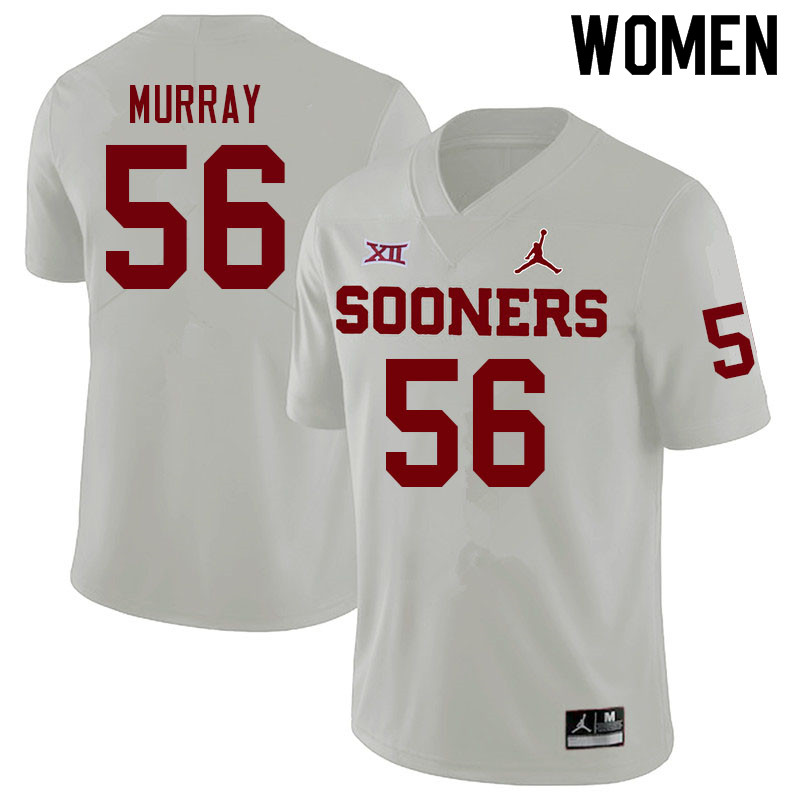 Women #56 Chris Murray Oklahoma Sooners College Football Jerseys Sale-White