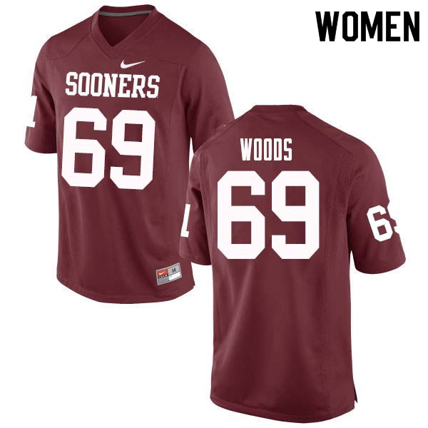 Women #69 Clayton Woods Oklahoma Sooners College Football Jerseys Sale-Crimson