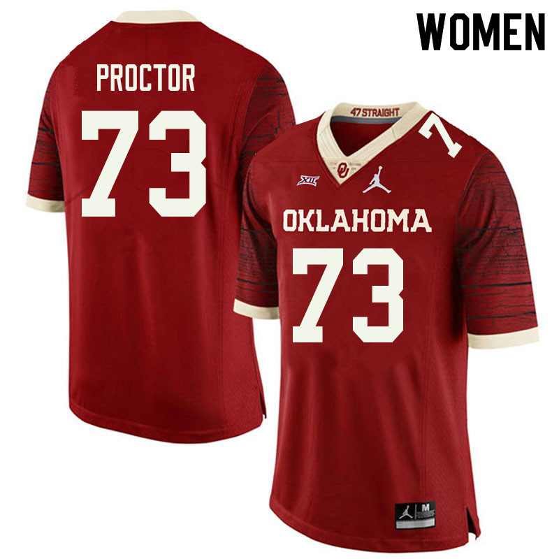 Jordan Brand Women #73 R.J. Proctor Oklahoma Sooners College Football Jerseys Sale-Retro