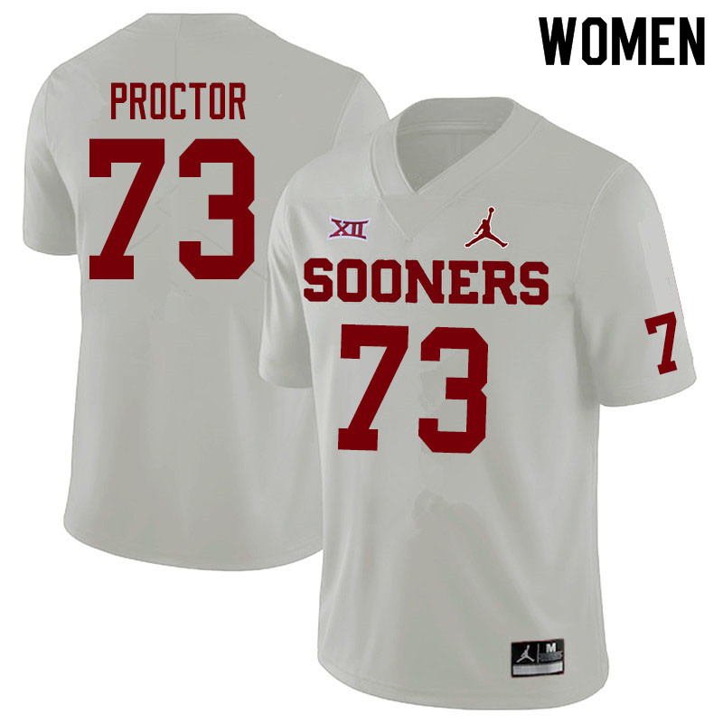 Jordan Brand Women #73 R.J. Proctor Oklahoma Sooners College Football Jerseys Sale-White
