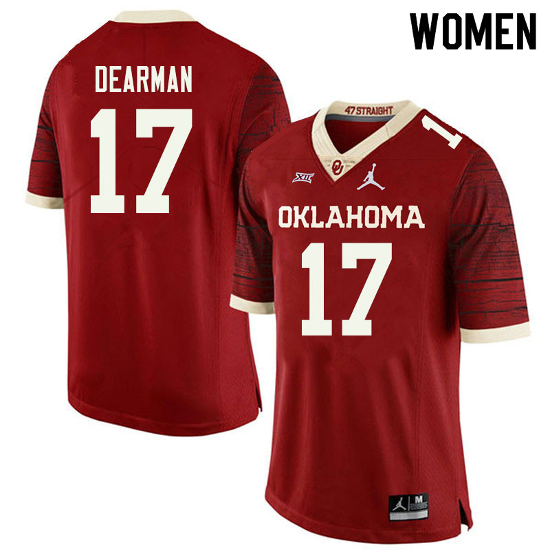 Jordan Brand Women #17 Ty DeArman Oklahoma Sooners College Football Jerseys Sale-Retro